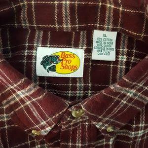 Bass Pro Shops Flannel  Shirt Size XL